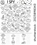 thanksgiving black and white i... | Shutterstock .eps vector #2025898343