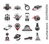 bowling icon set | Shutterstock .eps vector #202590454