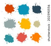 colorful retro vector stains ... | Shutterstock .eps vector #202590556