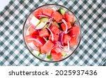 delicious juicy salad with...   Shutterstock . vector #2025937436