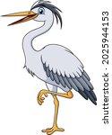 Cute Herons Cartoon Vector...