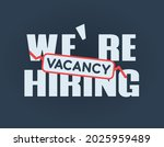 we are hiring icon. lettering...   Shutterstock .eps vector #2025959489