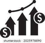 financial growth vector icon....   Shutterstock .eps vector #2025978890