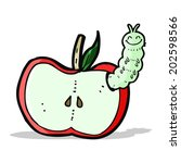 cartoon apple with bug | Shutterstock .eps vector #202598566