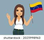 young beautiful venezuelan... | Shutterstock .eps vector #2025998963