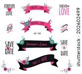 wedding romantic collection... | Shutterstock .eps vector #202602499
