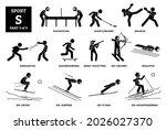 sport games alphabet s vector... | Shutterstock .eps vector #2026027370