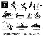 sport games alphabet s vector... | Shutterstock .eps vector #2026027376