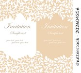beautiful floral invitation... | Shutterstock . vector #202604356