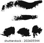 blob  paint  line | Shutterstock .eps vector #202605544
