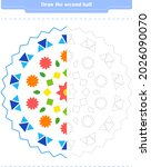 educational game for children....   Shutterstock .eps vector #2026090070