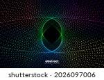 abstract flowing line digital...   Shutterstock .eps vector #2026097006