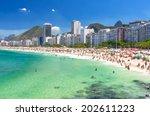 copacabana beach in rio de... | Shutterstock . vector #202611223