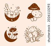 set of celestial and mystical... | Shutterstock .eps vector #2026113293