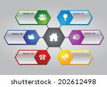 hexagon colorful text box  icon. | Shutterstock .eps vector #202612498