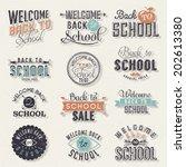 back to school calligraphic... | Shutterstock .eps vector #202613380