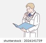 doctor looking at patient... | Shutterstock .eps vector #2026141739