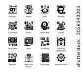 organization glyph icons  ... | Shutterstock .eps vector #2026143203