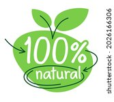 100 percents natural  organic... | Shutterstock .eps vector #2026166306