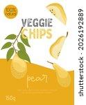 veggie pear chips packaging...   Shutterstock .eps vector #2026192889