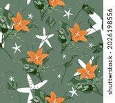 beautiful endless gentle floral ...   Shutterstock .eps vector #2026198556