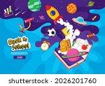 back to school  book... | Shutterstock .eps vector #2026201760