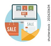 business online sale icons.... | Shutterstock . vector #202620634