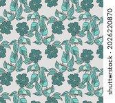vector seamless pattern... | Shutterstock .eps vector #2026220870