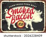 smoked bacon retro butchery... | Shutterstock .eps vector #2026228409