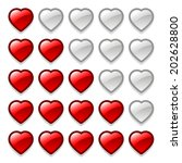 vector game web rating hearts...