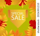 autumn leaves background ... | Shutterstock .eps vector #2026301210