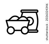 raw material line icon... | Shutterstock .eps vector #2026324346