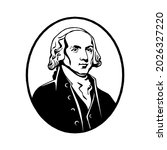 james madison   fourth us...   Shutterstock .eps vector #2026327220