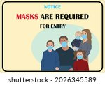 wear mask sign and symbol.... | Shutterstock .eps vector #2026345589
