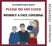wear face covering sign and... | Shutterstock .eps vector #2026346126