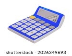 a pocket calculator isolated on ... | Shutterstock .eps vector #2026349693