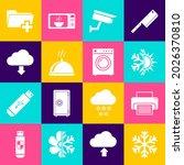 set snowflake  printer  sun and ... | Shutterstock .eps vector #2026370810