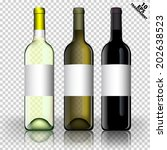 three vector bottle of wine... | Shutterstock .eps vector #202638523