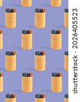 Colored Crayons Pattern...
