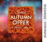 special autumn offer... | Shutterstock .eps vector #202642318