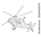 adult military helicopter...   Shutterstock .eps vector #2026433576