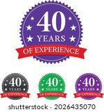 multicolor 40 years experience... | Shutterstock .eps vector #2026435070