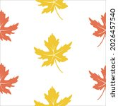seamless pattern with autumn... | Shutterstock .eps vector #2026457540
