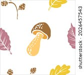 seamless pattern with autumn... | Shutterstock .eps vector #2026457543