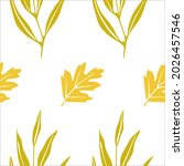 seamless pattern with autumn... | Shutterstock .eps vector #2026457546