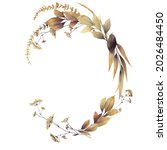 floral autumn frame  can be... | Shutterstock . vector #2026484450