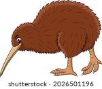 cute kiwi bird cartoon vector...   Shutterstock .eps vector #2026501196