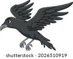 cute raven bird cartoon vector...   Shutterstock .eps vector #2026510919