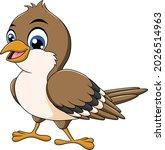 cute sparrow bird cartoon...   Shutterstock .eps vector #2026514963