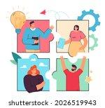 business team working on... | Shutterstock .eps vector #2026519943